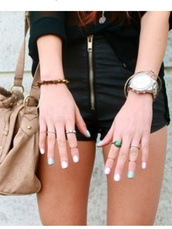 shorts,High waisted shorts,jewelry,jewels