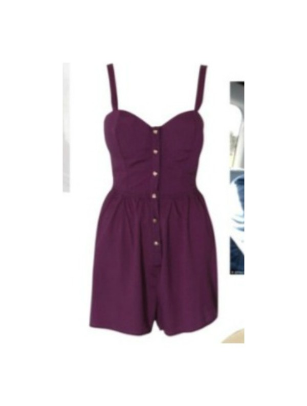 dress jumpsuit purple button up onesie romper romper romper