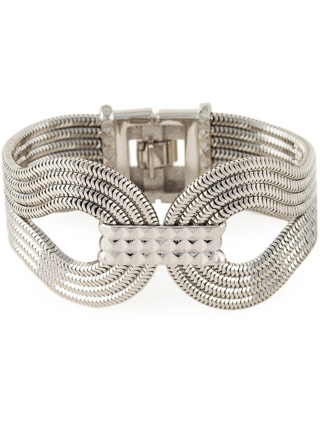 women grey metallic jewels