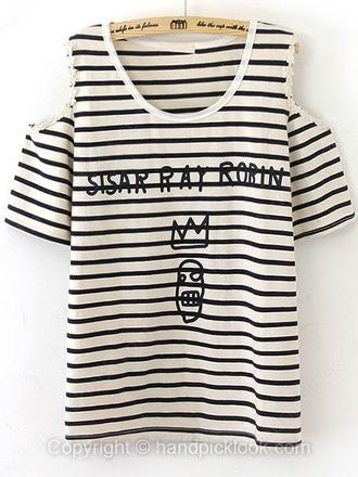 clothes t-shirt mariniere shirt