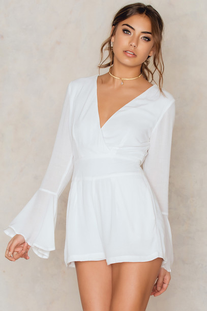a381ab9e10 Toby heart ginger Toby Heart Ginger Charlie Flare Sleeve Playsuit in white