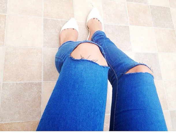 jeans blue wripped wripped jeans black white