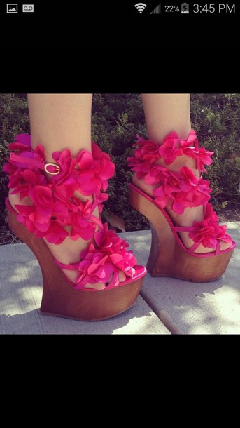 shoes heels flowers perfect summer wedges