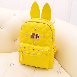 Latest style womens ladies cute rabbit ears backpack bag sweet rivet handbags