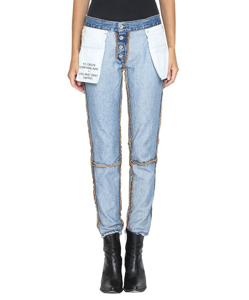 BEN TAVERNITI UNRAVEL PROJECT jeans denim cotton