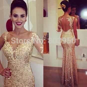 Aliexpress.com : Buy Vestidos Longos Formatura One Shoulder Full ...