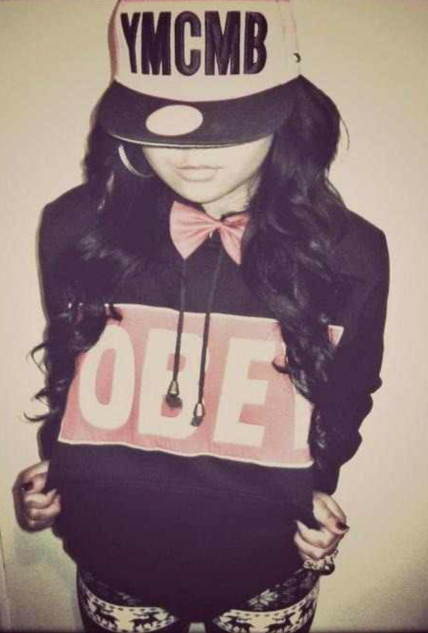 hat snapback obey hoodie leggings bow swag sweater jewels pants