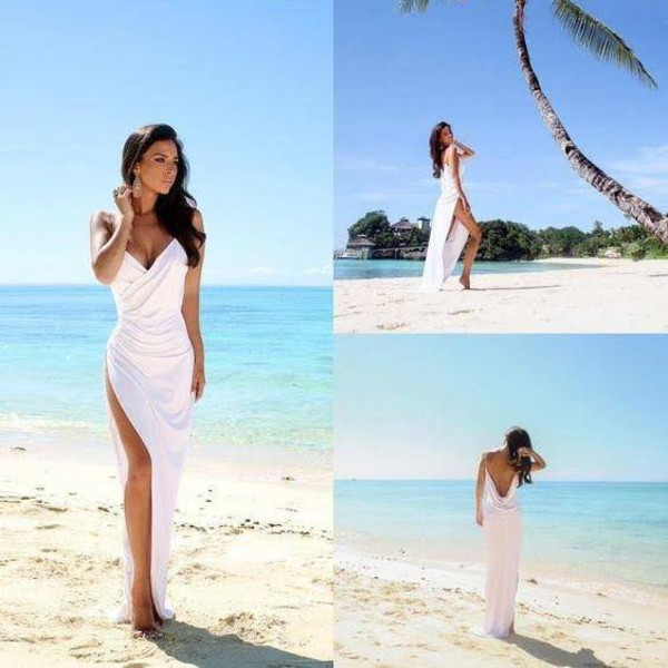 dress beach wedding dress wedding dress bridal gown white maxi dress maxi dress beach dress