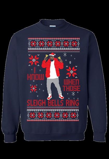 Sweater: drake, sleigh bells, christmas, dope, unisex, ugly ...
