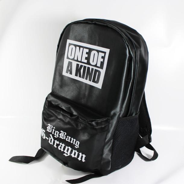 bag black backpack bookbag unisex back to school