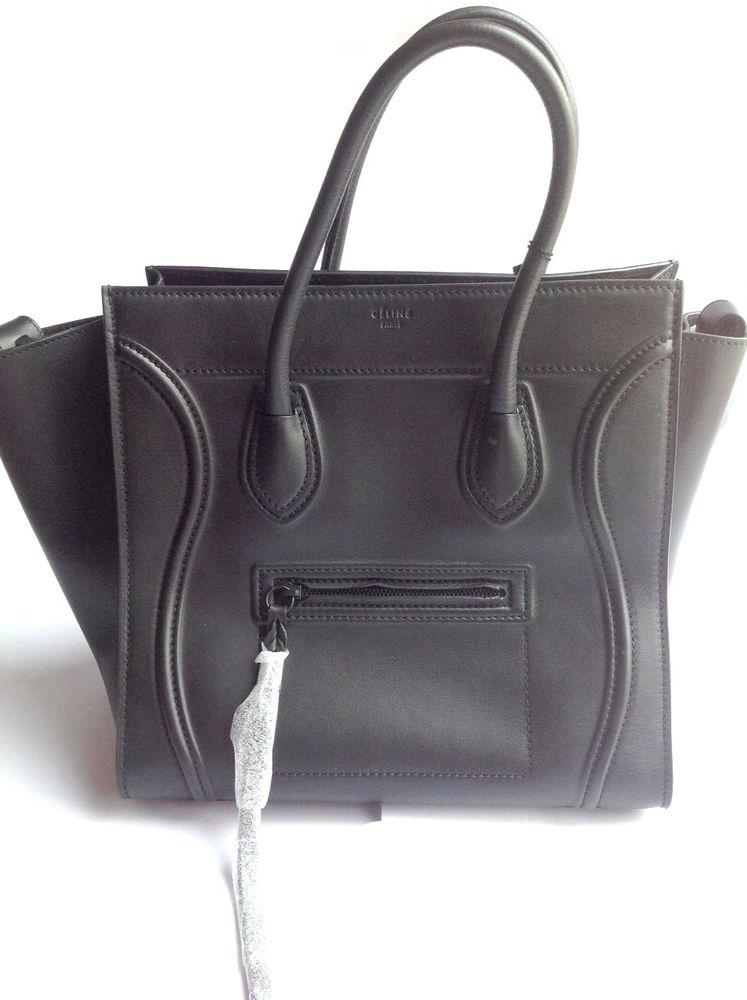 CELINE Small Square Phantom Luggage Bag — Black NWT