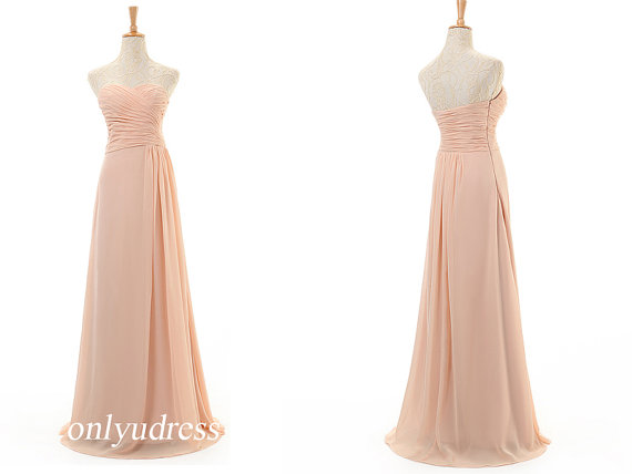 Peach bridesmaid dress new arrival bridesmaid dress by onlyudress