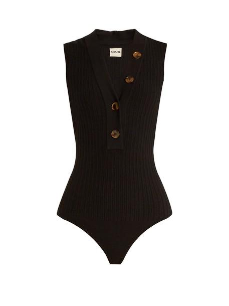 KHAITE bodysuit knit black underwear