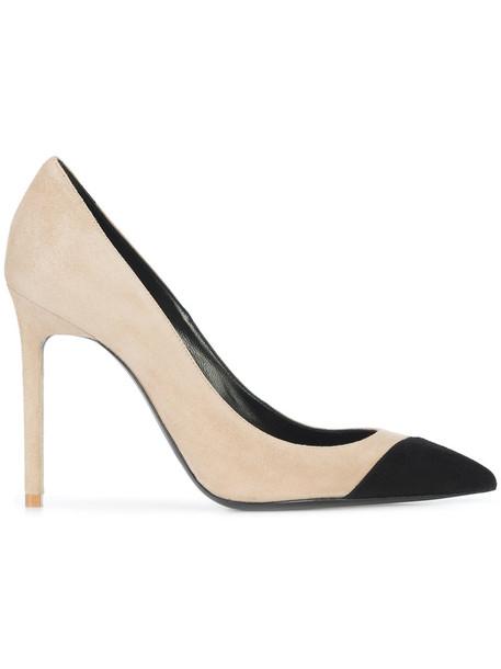 Saint Laurent women pumps leather nude shoes
