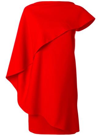 dress women spandex silk red