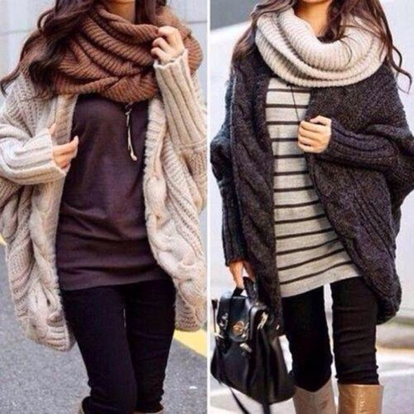 New fall and winter clothes hot sale bat sleeve cardigan knitting ...