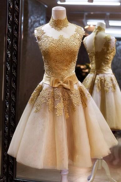 dress golden golden dress short dress creme