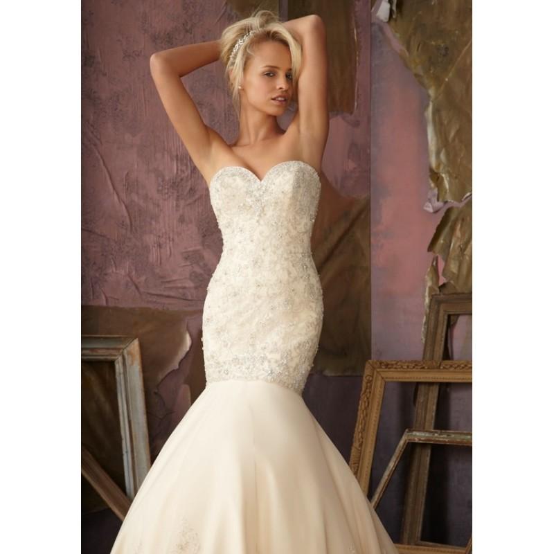 Mori Lee 1852 Beaded Mermaid Wedding Dress - Crazy Sale Bridal Dresses|Special Wedding Dresses|Unique 2018 New Style Dresses