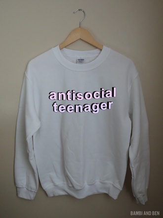 crewneck top brandy brandy melville sweatshirt style clothes antisocial social grunge trendy high waisted shorts bikini swimwear swimwead acacia brinley social anxiety graphic tee hoodie jacket pumpkin halloween costume white t-shirt tumblr outfit