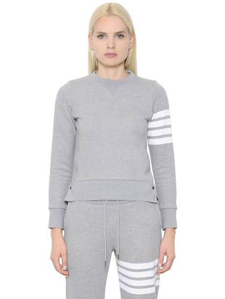 Thom Browne sweatshirt cotton grey sweater