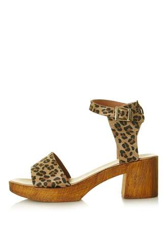 shoes leopard print sandals mid heel sandals