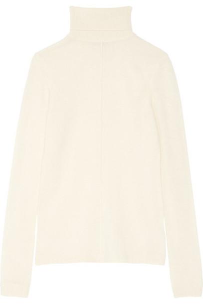 Frame - Le Classic Cashmere Turtleneck Sweater - Ecru