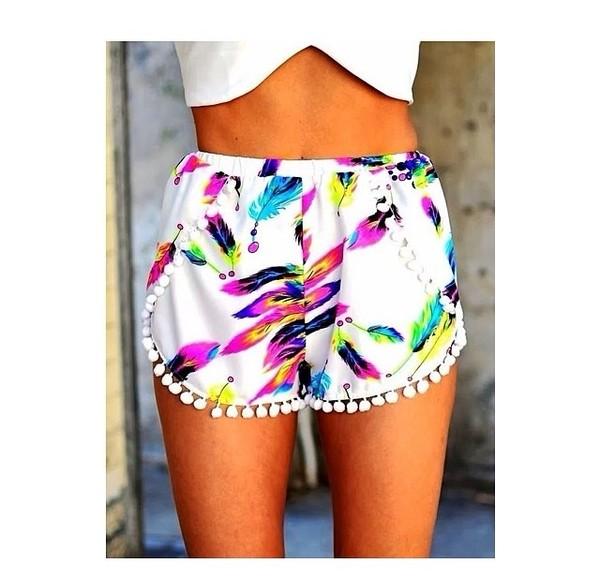 shorts colorful shorts