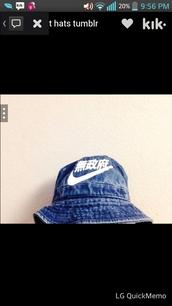 hat,nike,bucket hat,vintage,nike hat,acid wash,blue,denim,jeans,bucket hats,chinese,bucket hat chinese,nike air