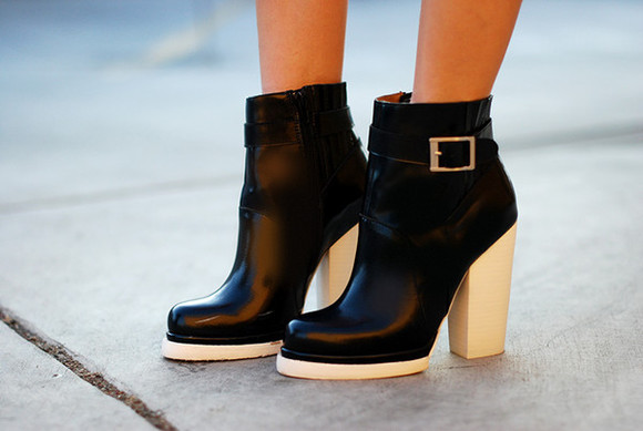shoes black ankle boots black and white white booties jeffrey campbell