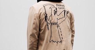 jacket leather brown brown leather jacket stich black dark cute fashion sucks style grudge emo