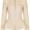 Tailored zip peplum jacket - topshop