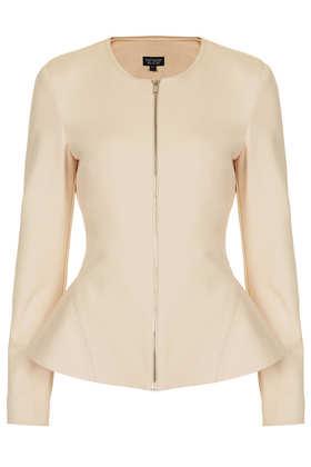 Tailored Zip Peplum Jacket - Topshop