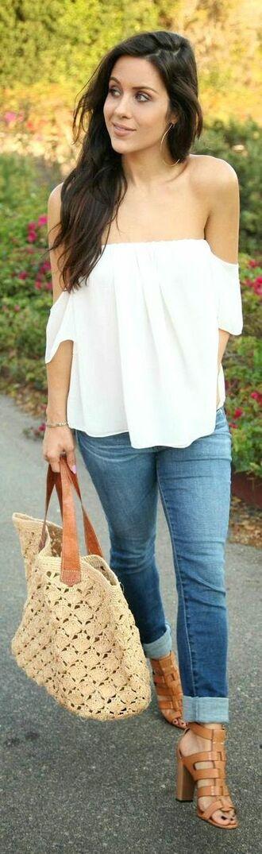 blouse white boho bohemian off the shoulder off shoulder one shoulder top