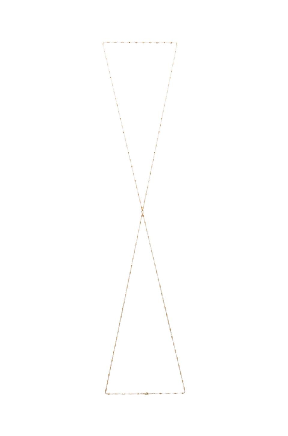 Jacquie aiche vintage chain body chain in yellow gold from revolveclothing.com