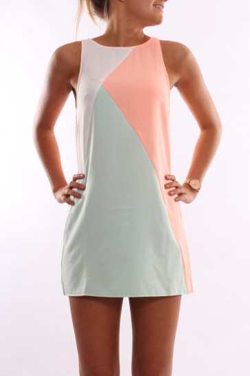 Crazy In Love Dress Peach Mint - Womens