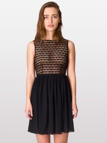 American Apparel - Sleeveless Lace Chiffon Dress