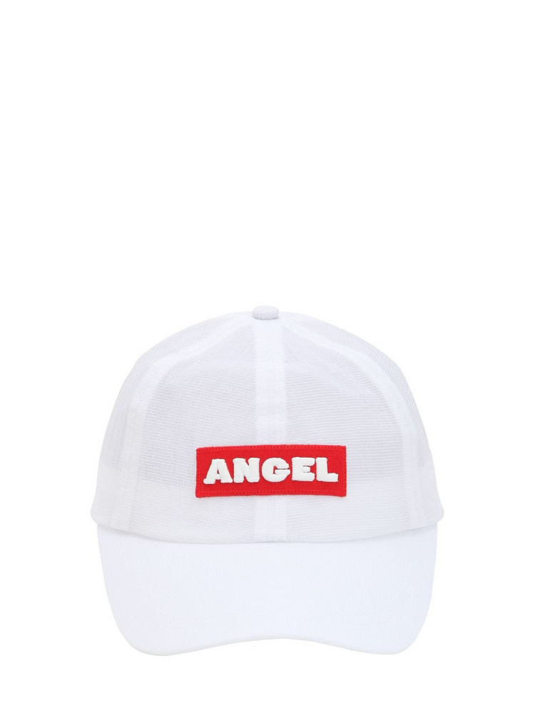 ANGEL CHEN Logo Patch Hat in white
