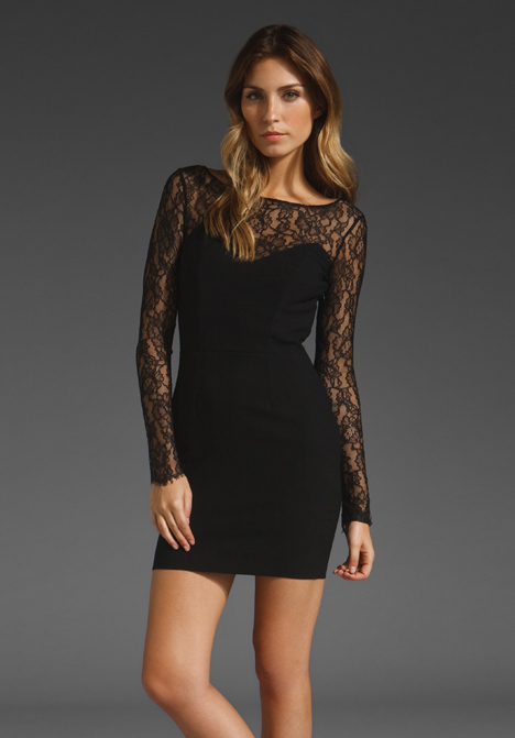 PAPER CROWN BY LAUREN CONRAD Monet Lace Dress in Black at Revolve Clothing - Free Shipping!