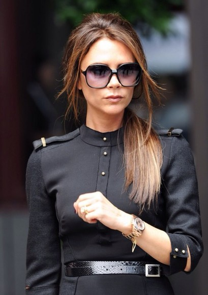 victoria beckham jacket leather black perfecto military jacket