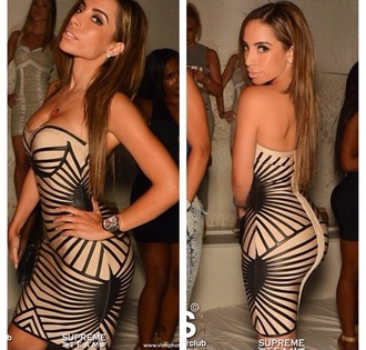 dress tan black girl style stripes black dress fashion girly girly wishlist short dress tight