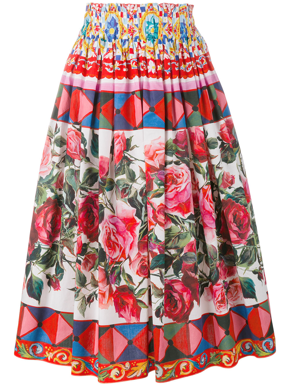 6f5f76f741 Dolce & Gabbana Mambo Print Pleated Skirt - Farfetch