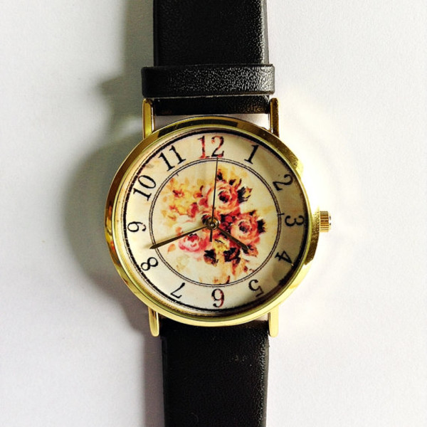 jewels vintage fall outfits rose watch watch handmade etsy style