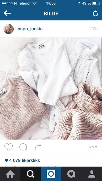 sweater white white sweater beige fall outfits fall sweater