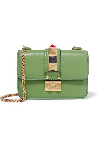 mini embellished bag shoulder bag leather green
