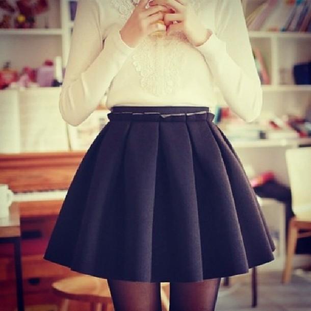 skirt blouse black skirt