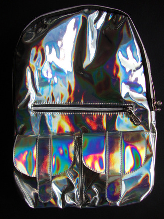 bag holographic iridescent backpack