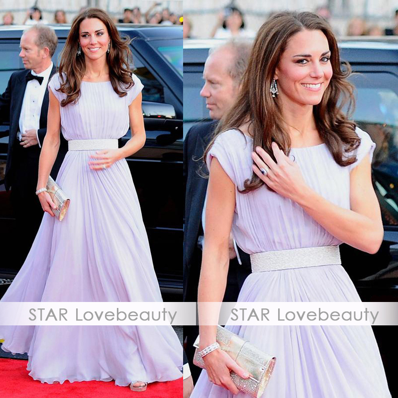 New arrival kate middleton kate one piece dress fashion white chiffon vintage full dress