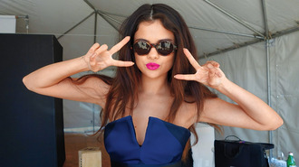 romper selena gomez blue dress fashion style summer outfits cute