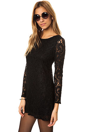 Glamorous Dress Lace in Black -  Karmaloop.com