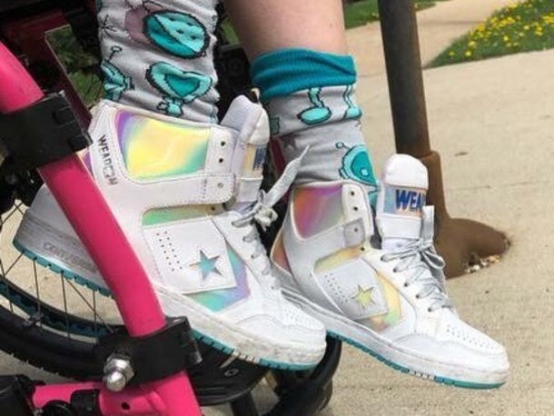 shoes, holographic, converse, high top